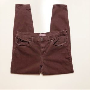 Madewell Skinny Skinny Jeans Maroon Size 32
